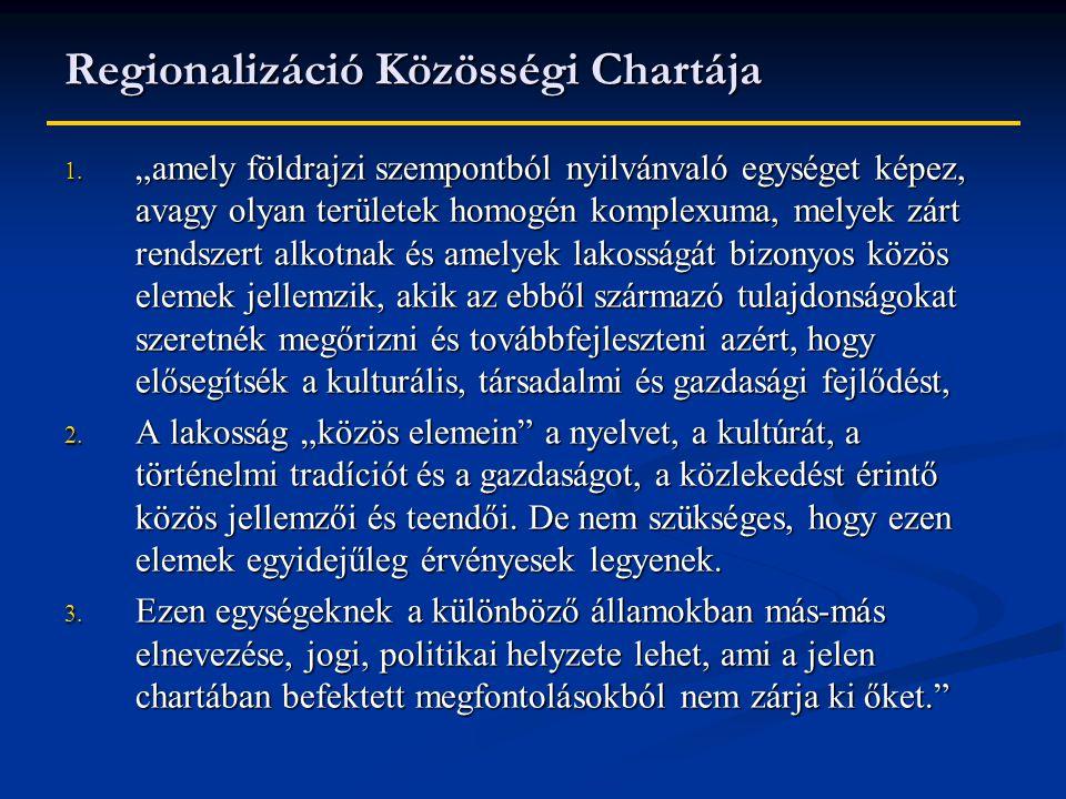 Regionalizáció Közösségi Chartája