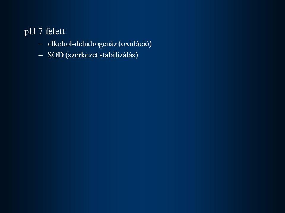 pH 7 felett alkohol-dehidrogenáz (oxidáció)