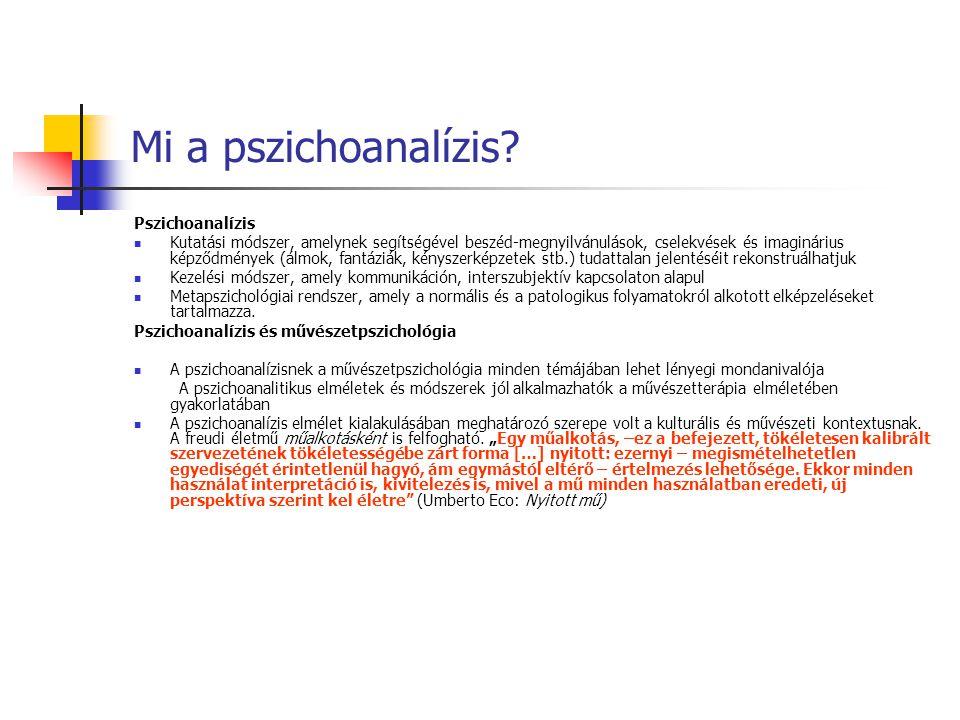 Mi a pszichoanalízis Pszichoanalízis