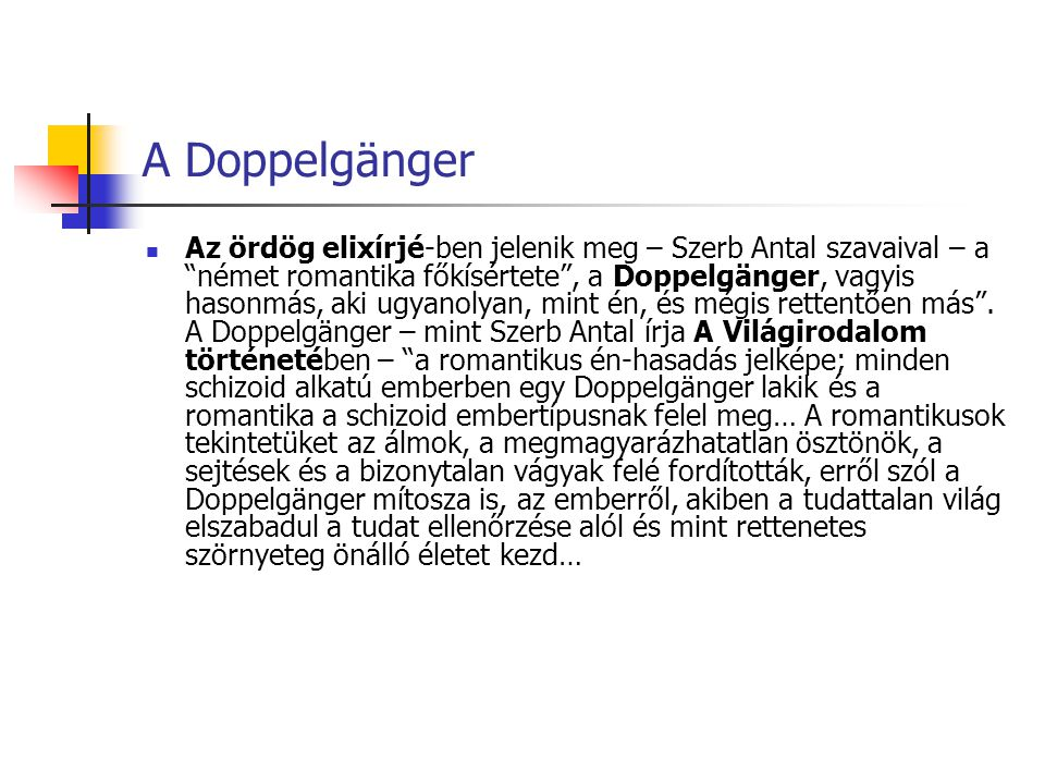 A Doppelgänger