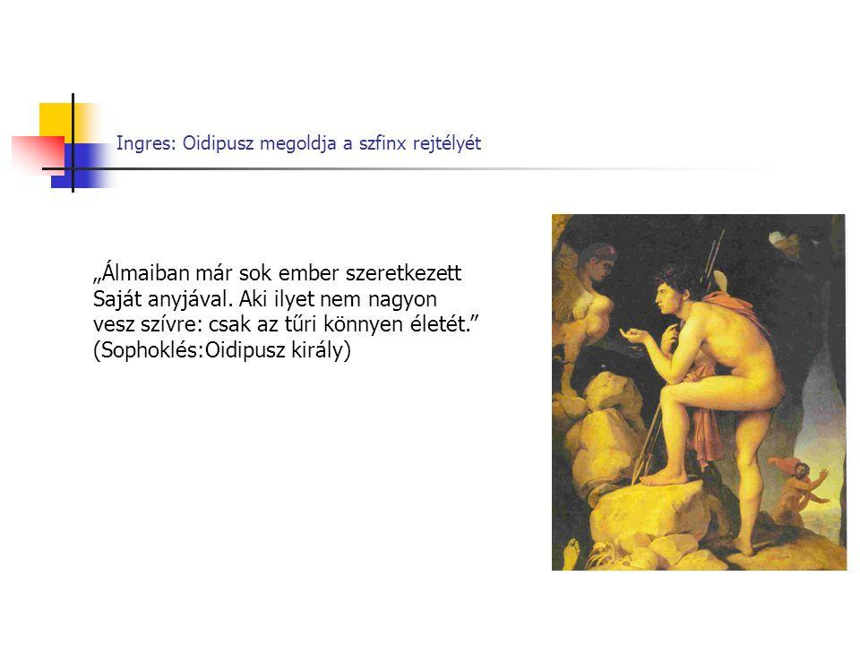 Ingres: Oidipusz megoldja a szfinx rejtélyét