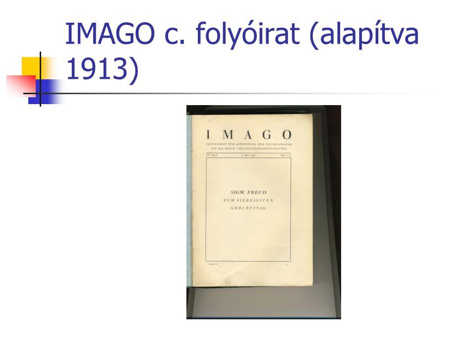 IMAGO c. folyóirat (alapítva 1913)