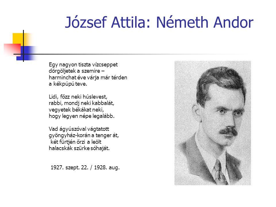 József Attila: Németh Andor