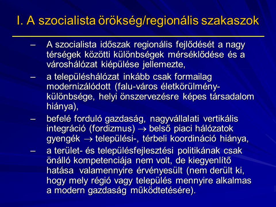 I. A szocialista örökség/regionális szakaszok