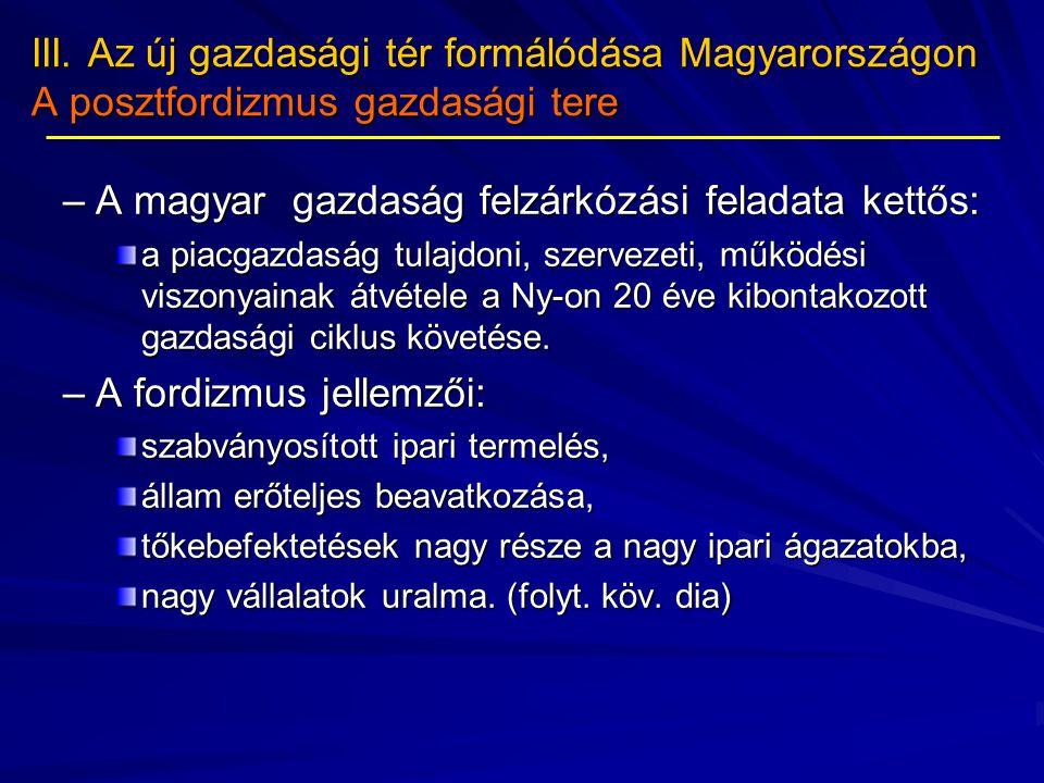 A magyar gazdaság felzárkózási feladata kettős: