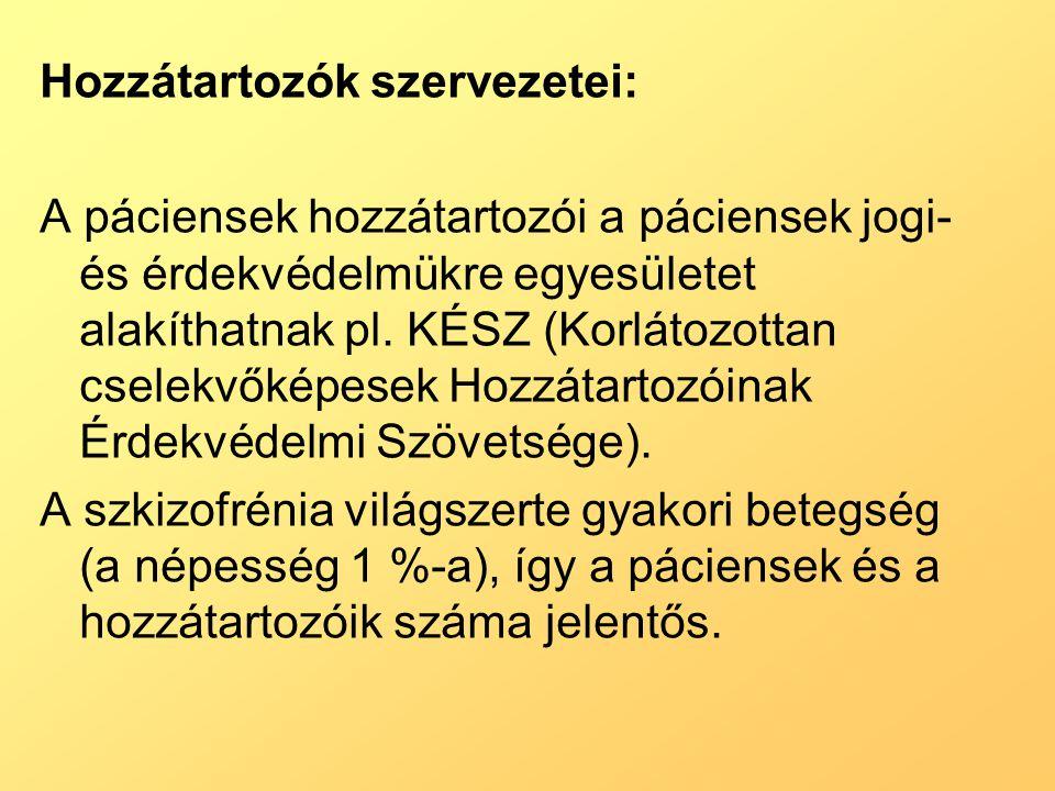 Hozzátartozók szervezetei: