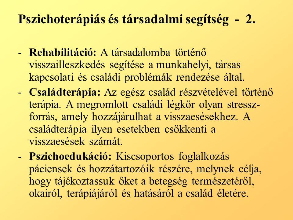 Pszichoterápiás és társadalmi segítség - 2.