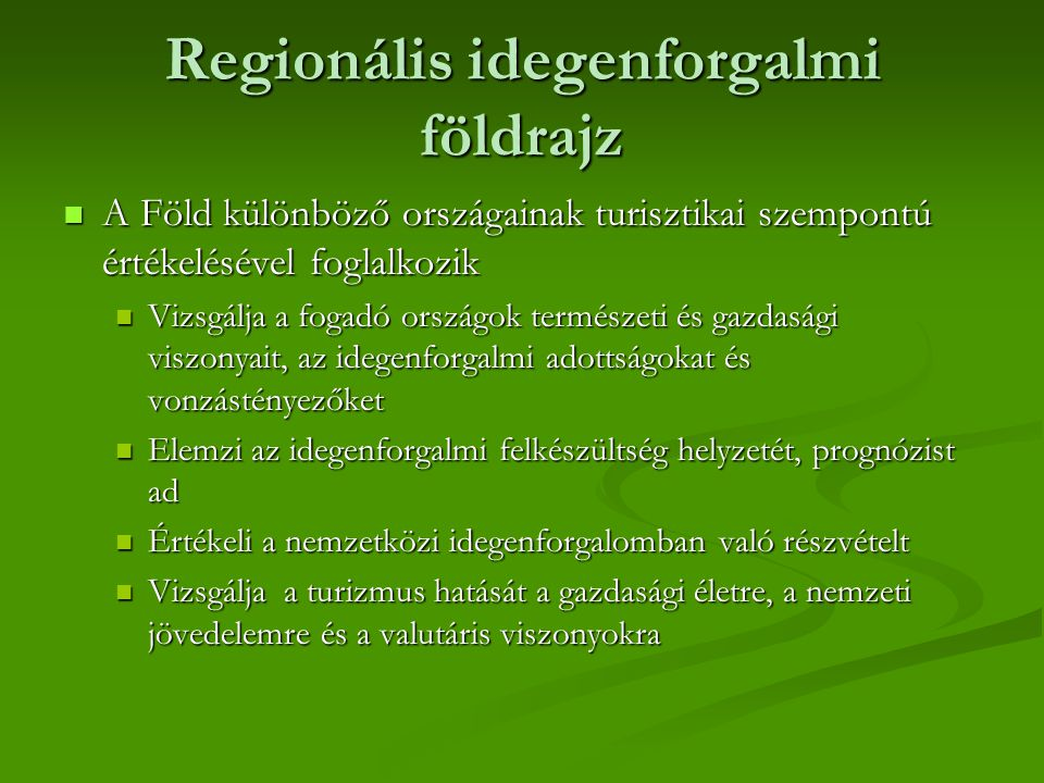 Regionális idegenforgalmi földrajz