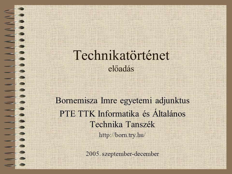 Technikatörténet előadás