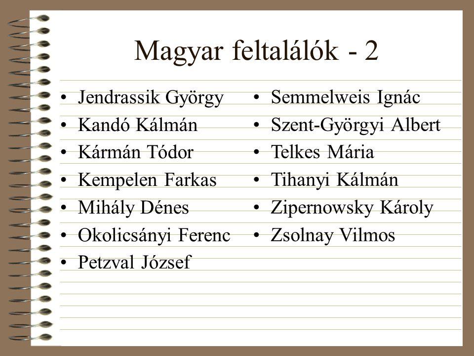Magyar feltalálók - 2 Jendrassik György Kandó Kálmán Kármán Tódor