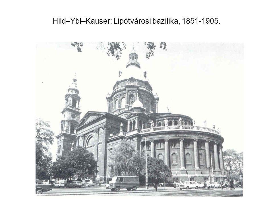 Hild–Ybl–Kauser: Lipótvárosi bazilika, 1851-1905.