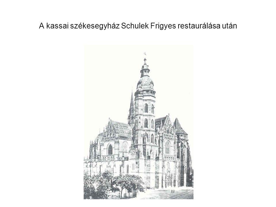 A kassai székesegyház Schulek Frigyes restaurálása után