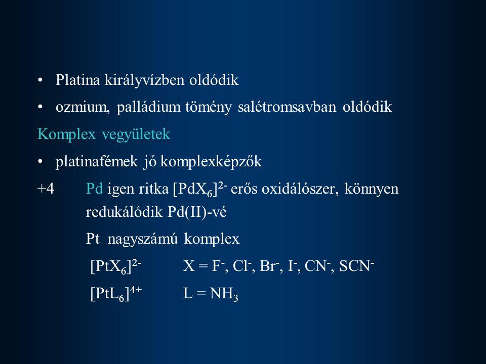 Platina királyvízben oldódik