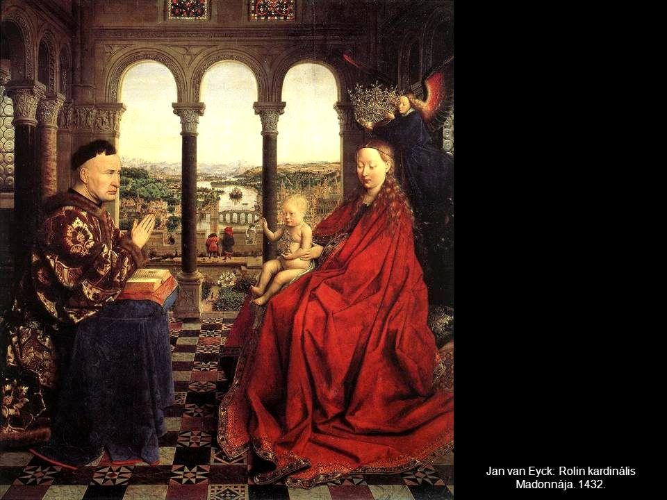 Jan van Eyck: Rolin kardinális Madonnája. 1432.