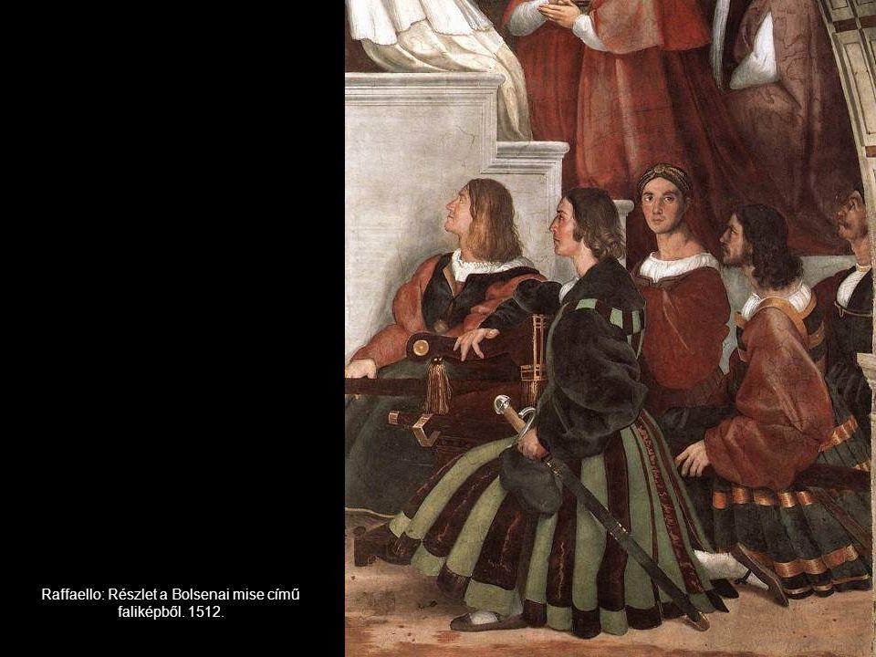 Raffaello: Részlet a Bolsenai mise című faliképből. 1512.