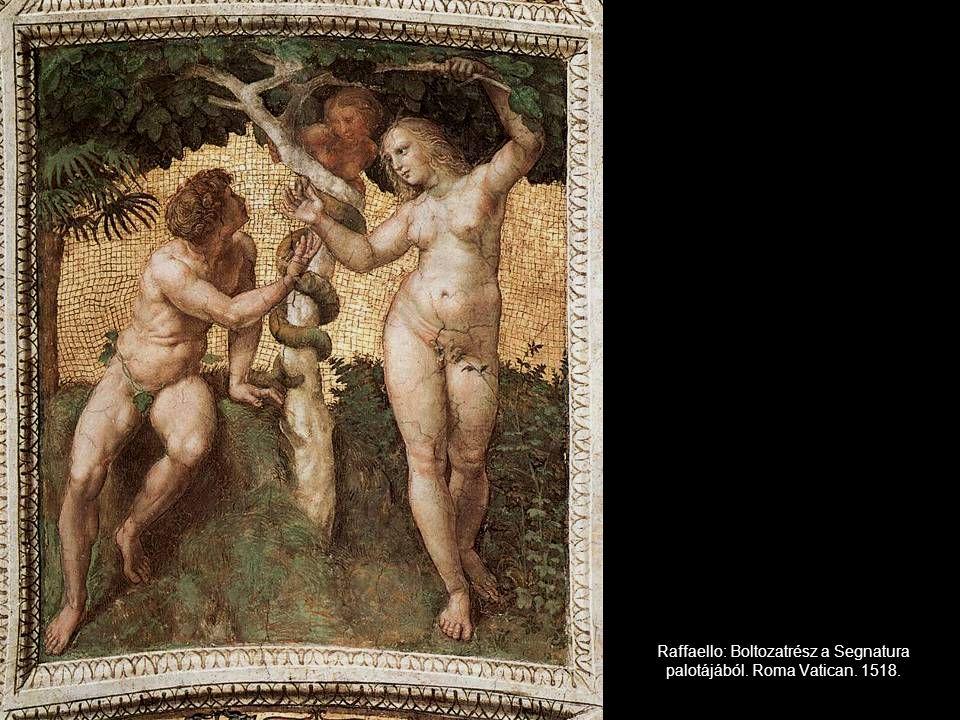 Raffaello: Boltozatrész a Segnatura palotájából. Roma Vatican. 1518.