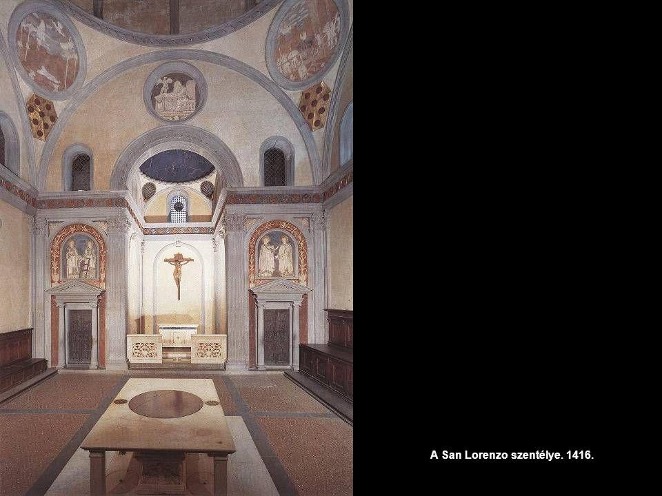 A San Lorenzo szentélye. 1416.