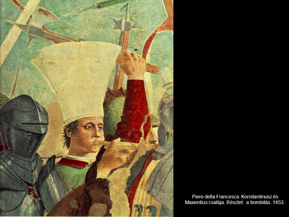 Piero della Francesca: Konstantinusz és Maxentius csatája