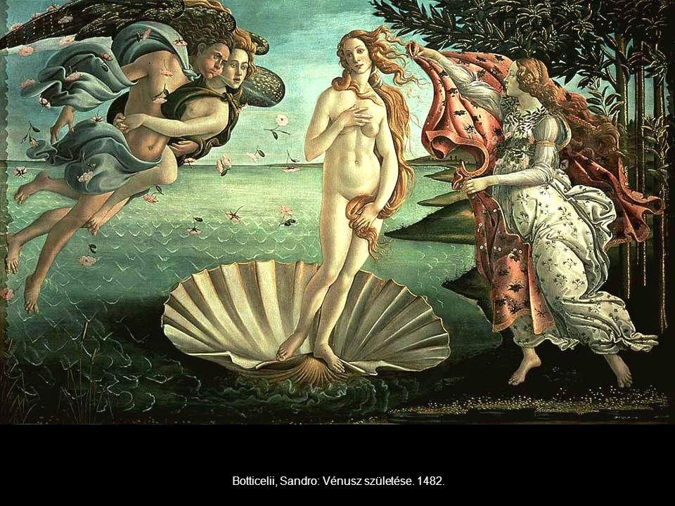 Botticelii, Sandro: Vénusz születése. 1482.