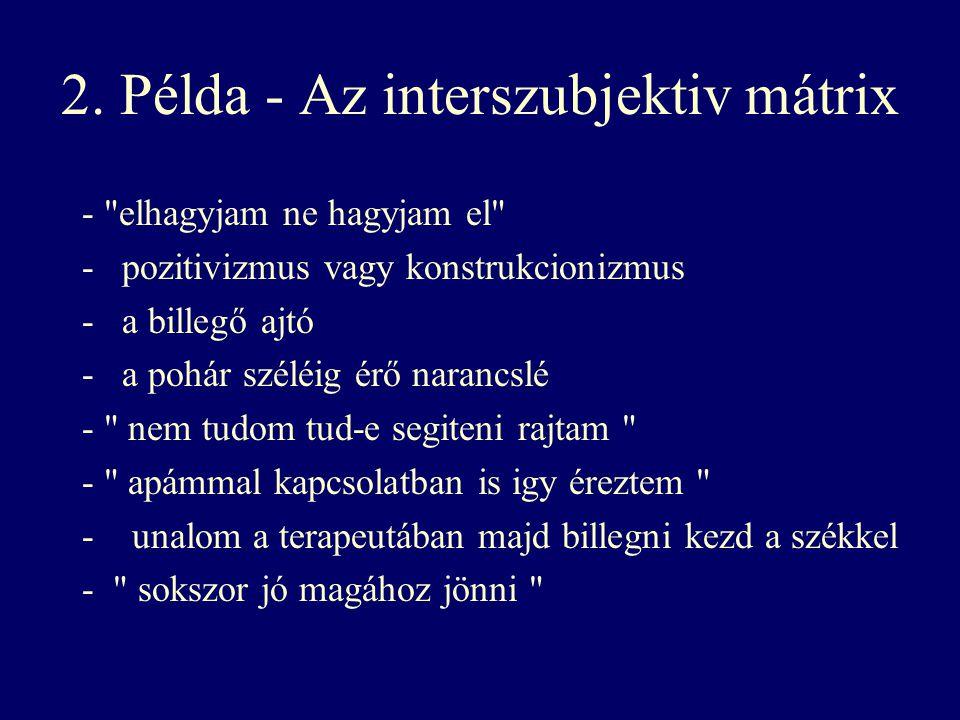 2. Példa - Az interszubjektiv mátrix