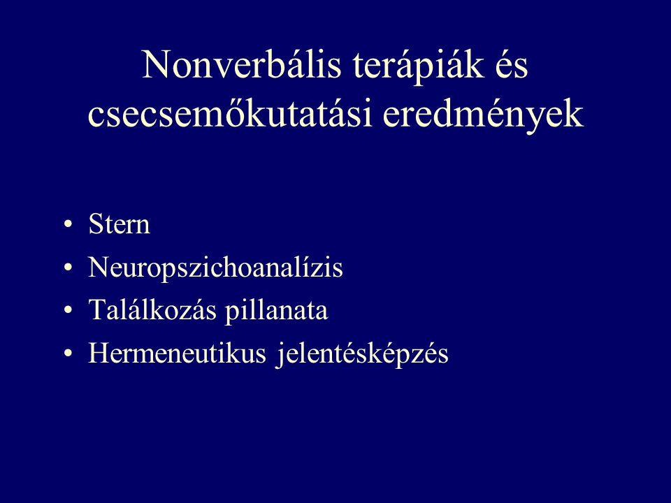 Nonverbális terápiák és csecsemőkutatási eredmények