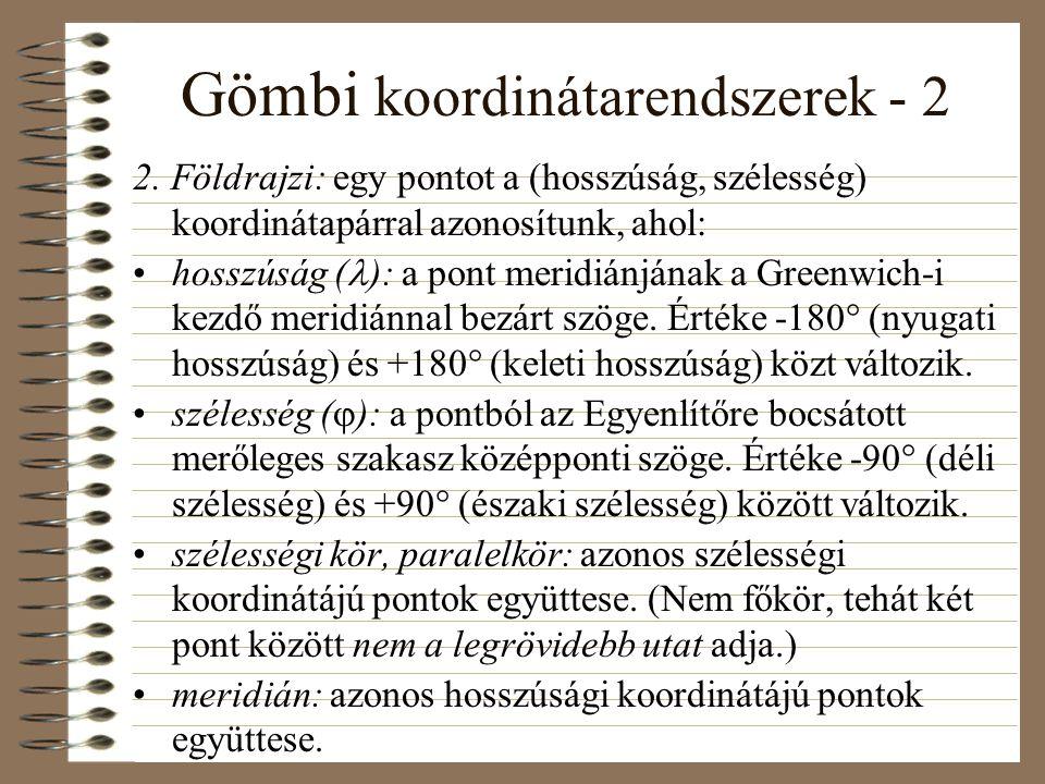 Gömbi koordinátarendszerek - 2