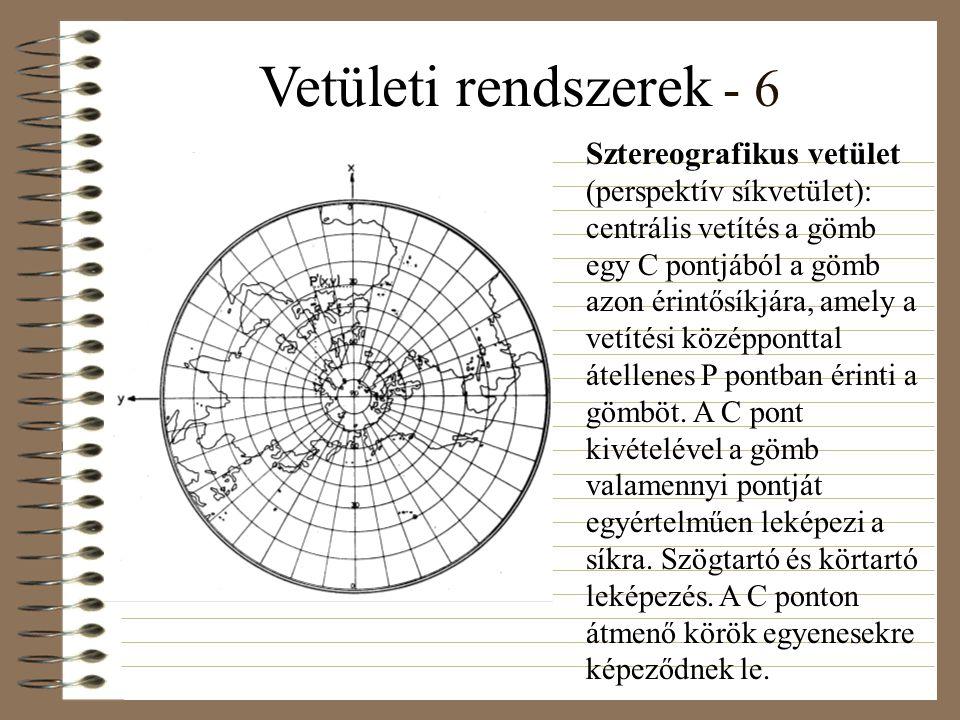 Vetületi rendszerek - 6