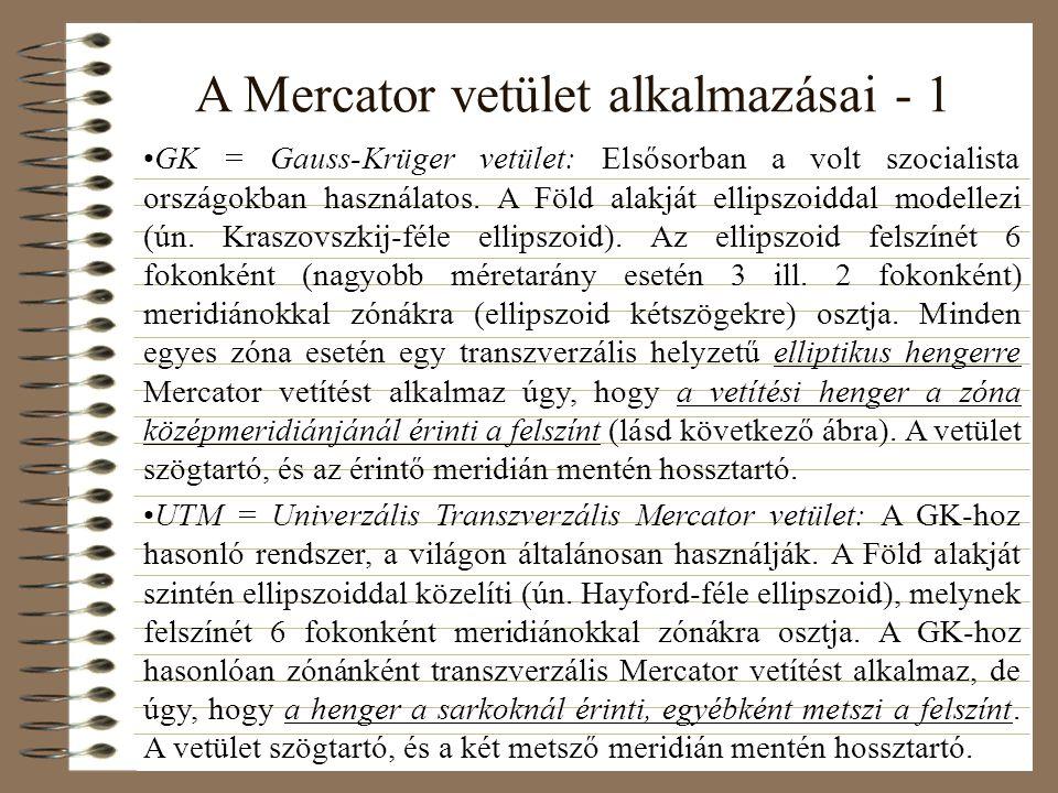 A Mercator vetület alkalmazásai - 1