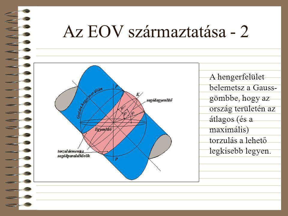 Az EOV származtatása - 2