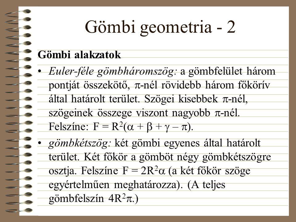 Gömbi geometria - 2 Gömbi alakzatok