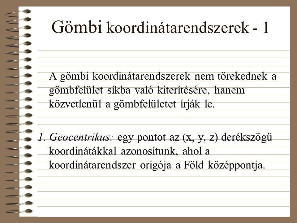 Gömbi koordinátarendszerek - 1
