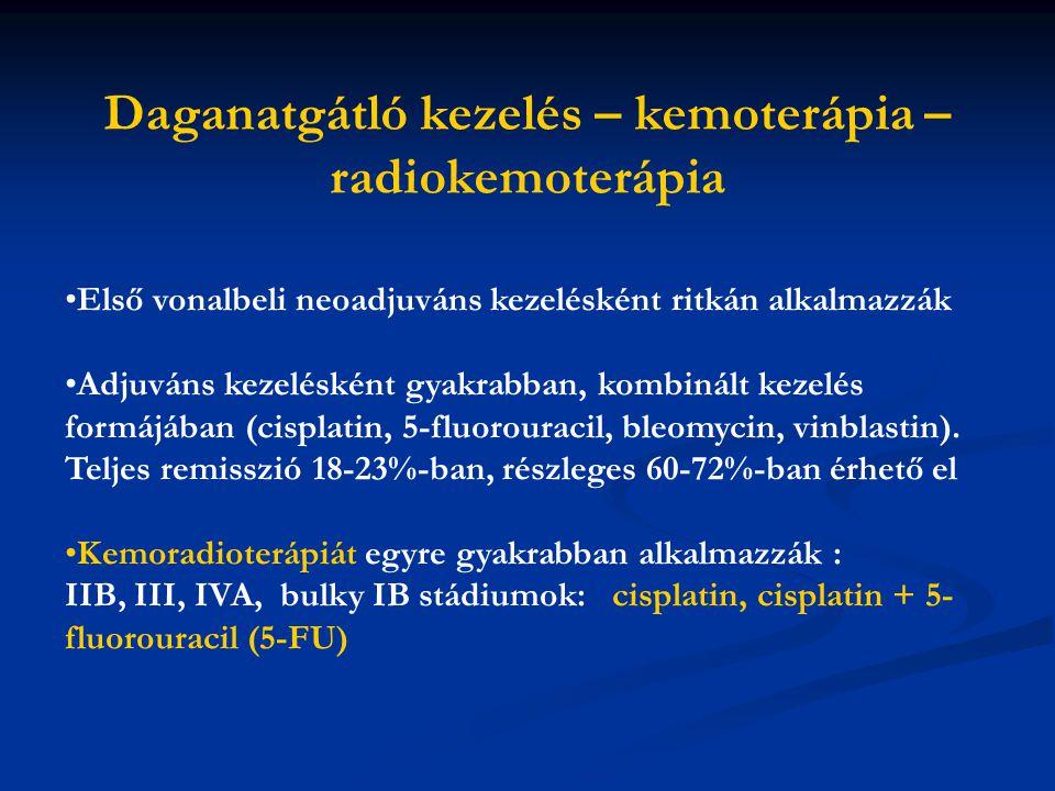 Daganatgátló kezelés – kemoterápia –radiokemoterápia