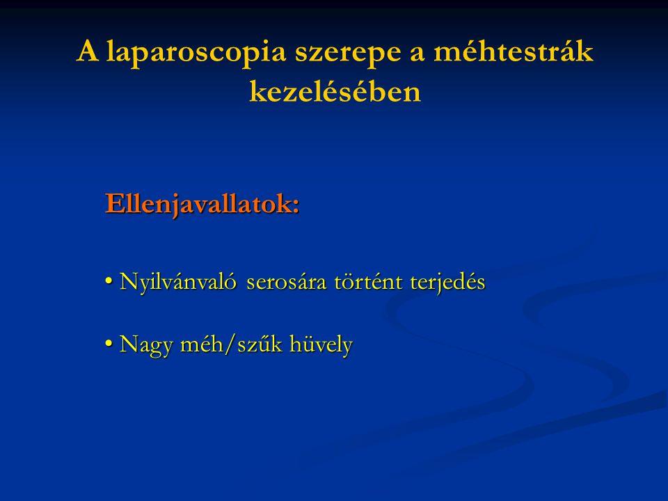 A laparoscopia szerepe a méhtestrák kezelésében