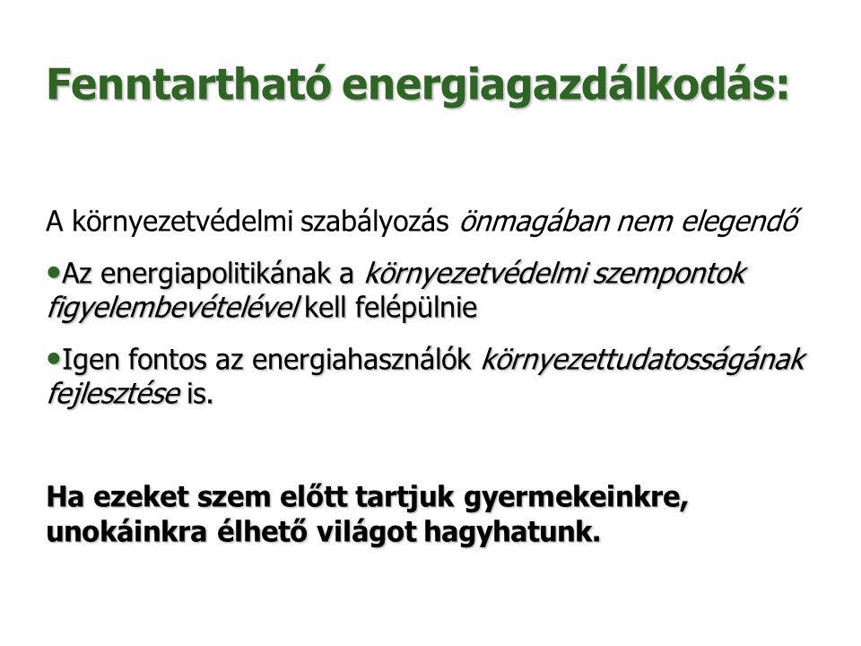 Fenntartható energiagazdálkodás: