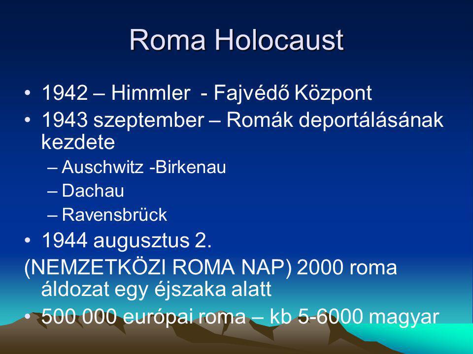 Roma Holocaust 1942 – Himmler - Fajvédő Központ