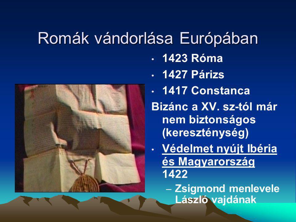 Romák vándorlása Európában