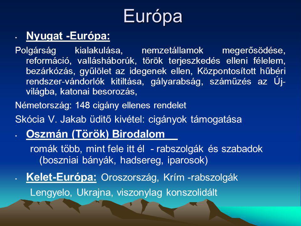 Európa Nyugat -Európa: Oszmán (Török) Birodalom