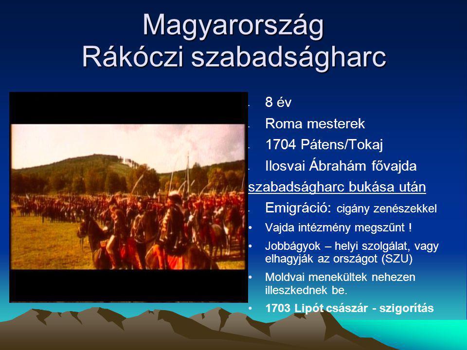Magyarország Rákóczi szabadságharc