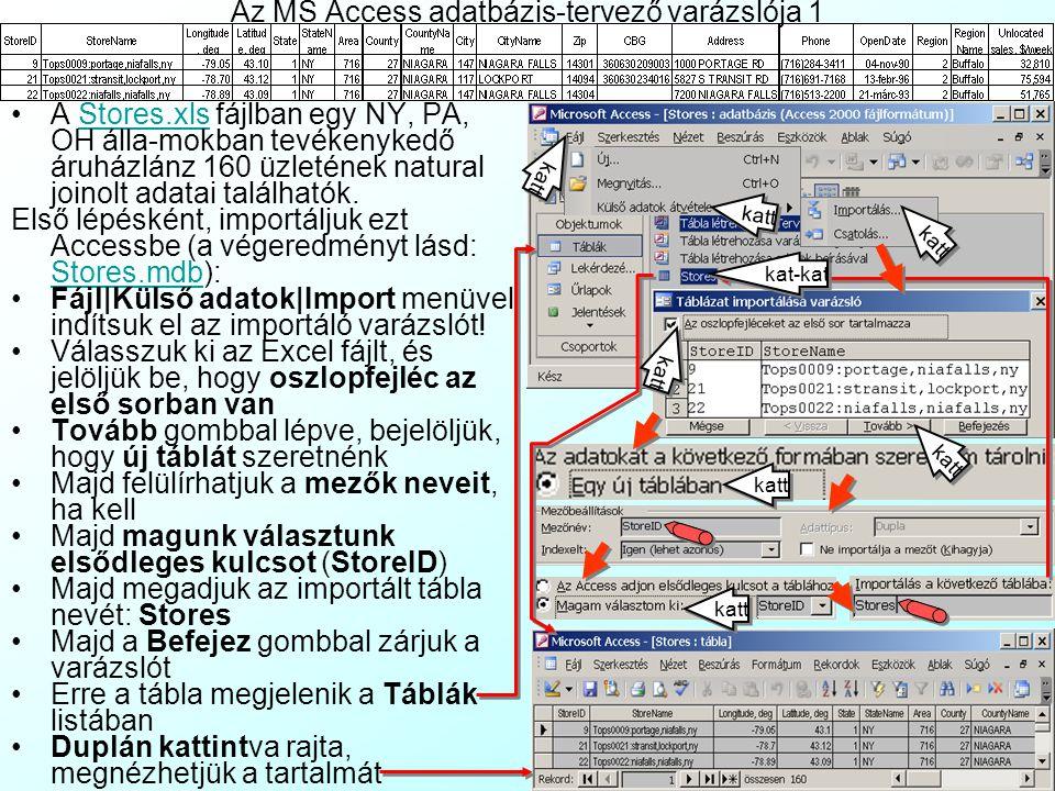 Az MS Access adatbázis-tervező varázslója 1