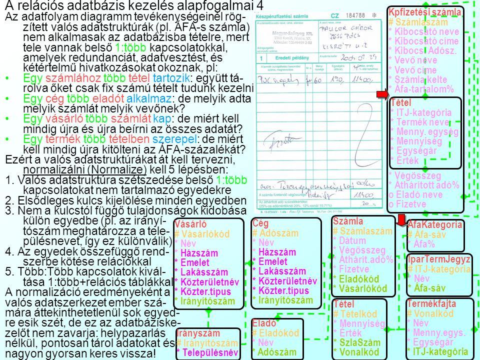 A relációs adatbázis kezelés alapfogalmai 4