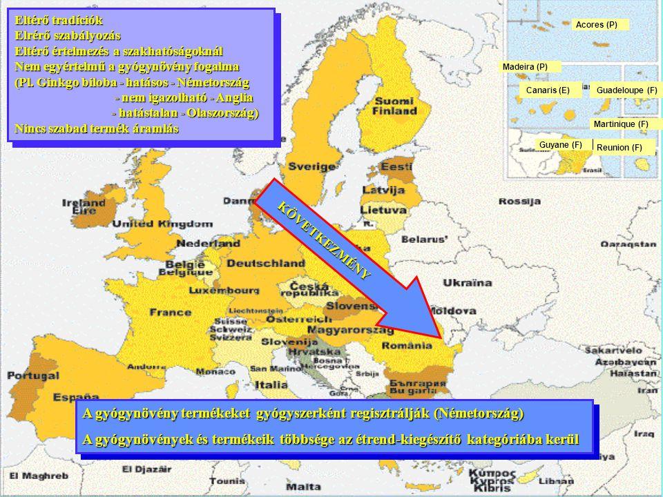 A gyógynövény termékeket gyógyszerként regisztrálják (Németország)