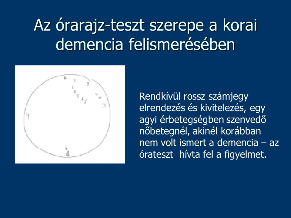 Az órarajz-teszt szerepe a korai demencia felismerésében
