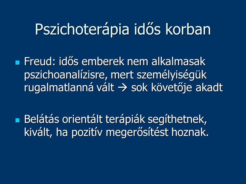 Pszichoterápia idős korban