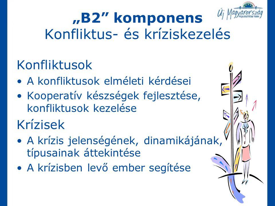 """""""B2 komponens Konfliktus- és kríziskezelés"""