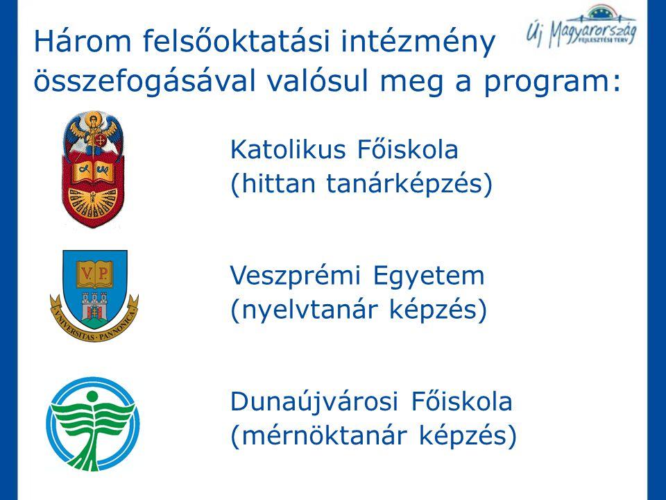 Három felsőoktatási intézmény összefogásával valósul meg a program: