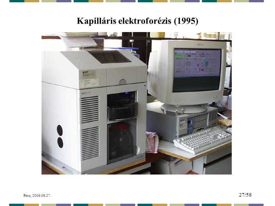 Kapilláris elektroforézis (1995)