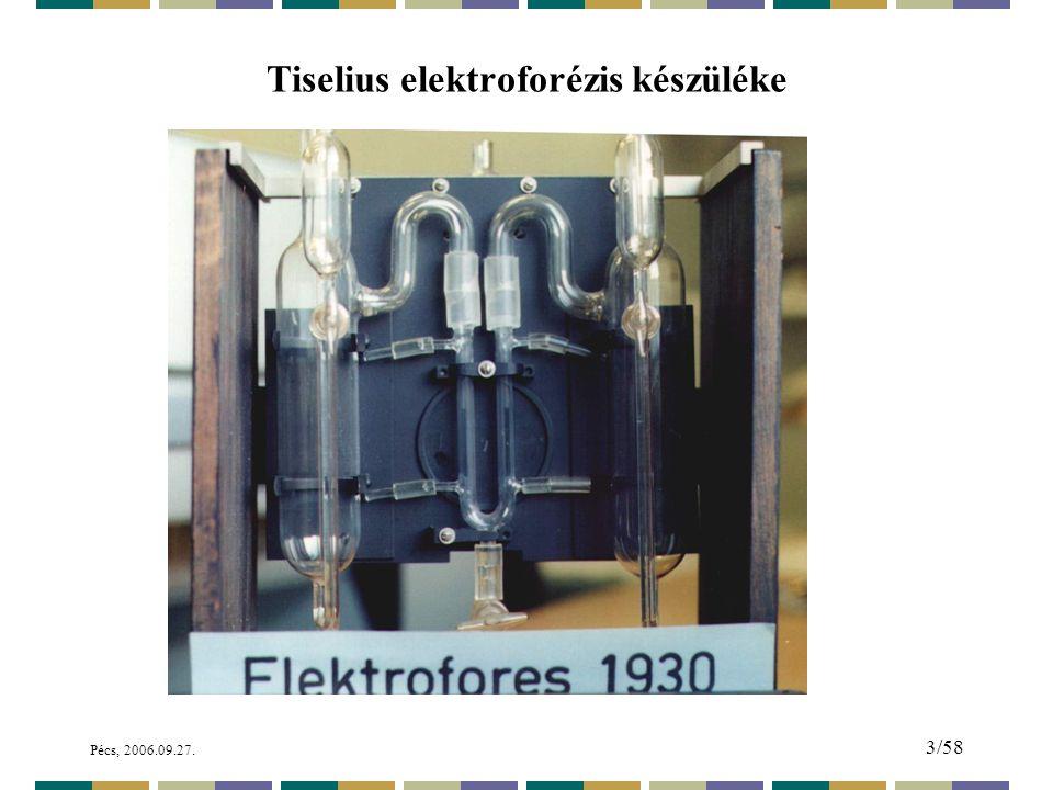Tiselius elektroforézis készüléke