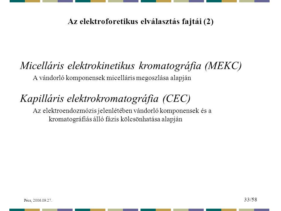 Az elektroforetikus elválasztás fajtái (2)