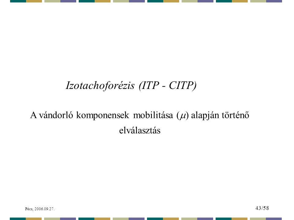Izotachoforézis (ITP - CITP)