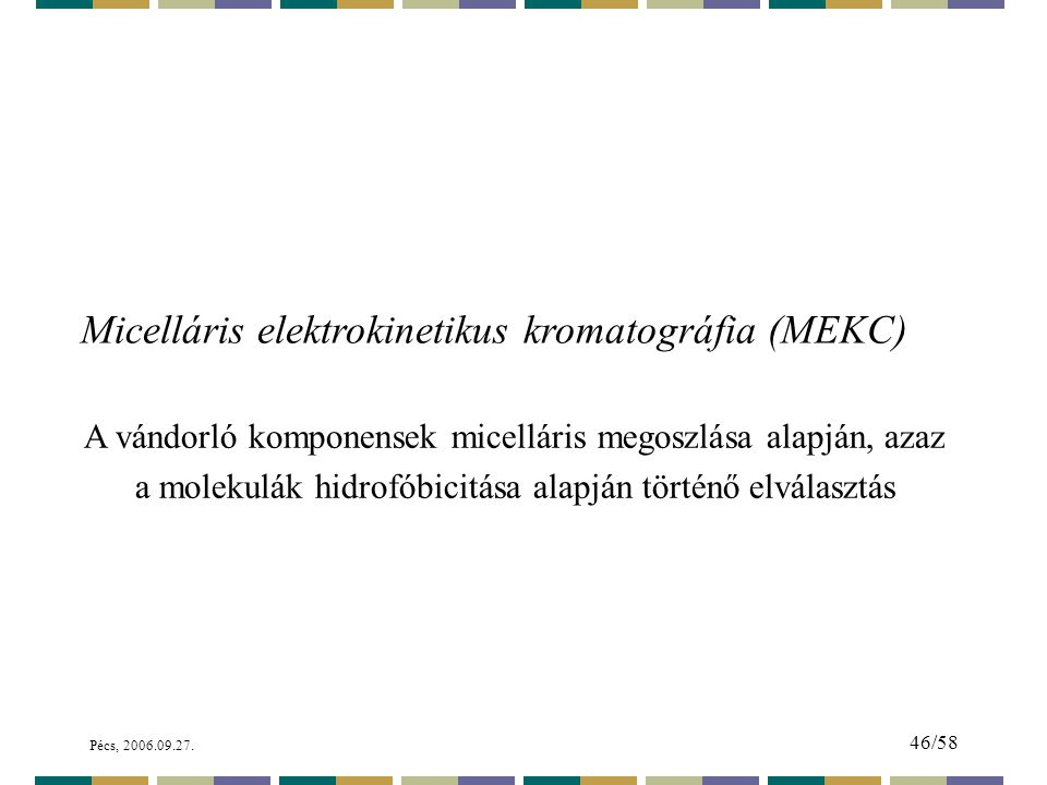 Micelláris elektrokinetikus kromatográfia (MEKC)